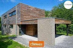 .: Houtskeletbouw combi baksteen en cederhout | door Dewaele