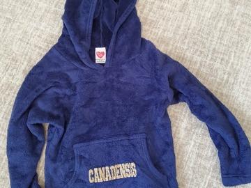 Selling A Singular Item: Youth S 8-10 navy fleece hooded Canadensis sweatshirt