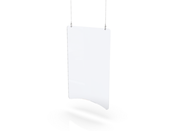 """Sell your product: 1/8"""" Thick Hanging Sneeze Guard"""