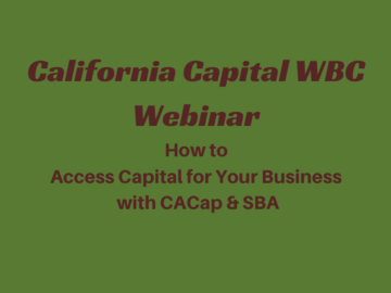 Workshop: How to Access Capital for Your Business - CACap & SBA