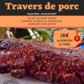 Vente avec paiement en direct: Travers de porc fumés (6 heures de cuisson au feu de bois)