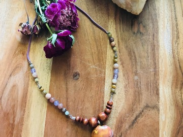 Selling with online payment: Polychrome Jasper with Sunstone Necklace