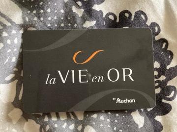 """Vente: Carte cadeau """"La vie en or"""" Auchan (100€)"""