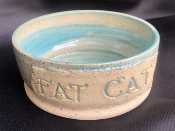 Selling with online payment: Small Fat Cat Pet Dish