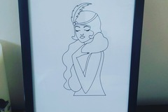 For Sale: A4 wall print with frame