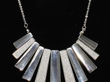 Liquidation/Wholesale Lot: Dozen Fancy Gold & Silver Bar Pendant Necklaces