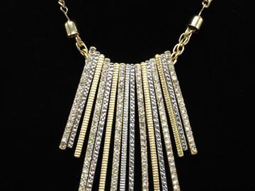 Liquidation/Wholesale Lot: Dozen I-N-C- Fancy High End Bar Pendant Necklaces $414 Value