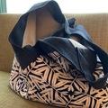 : Reversible bag  by Yvonne & Annette Beige &  Blue