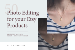 Offering online services: Photo Editing for Your Etsy Products [Up to 50 Photos]