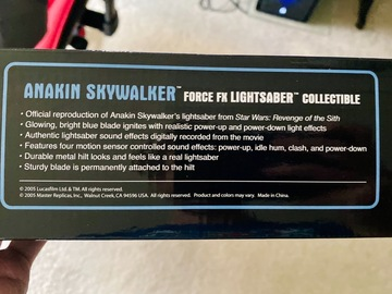 Selling with online payment: 2005 Official Master Replicas Anakin Skywalker ForceFX Lightsaber