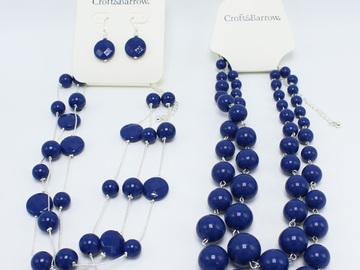 Liquidation/Wholesale Lot: Dozen Wholesale Blue Bead Necklace by Croft & Barrow $228 Value