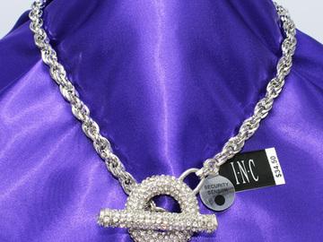 Liquidation/Wholesale Lot: Dozen Fancy I-N-C Crystal Rhinestone Necklaces $414 Ticket Value