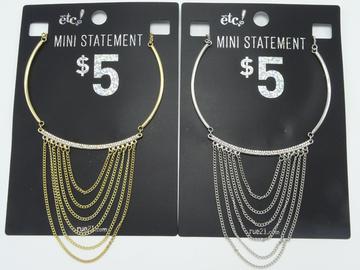 Liquidation/Wholesale Lot: 24 New Rhinestone Mini Statement Choker Necklaces by RUE21