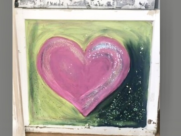 Selling with online payment: Heart Of Glass Painting