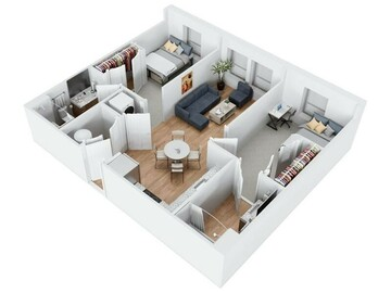 List Your Space: 1 Bedroom in Terrapin Row 2x2