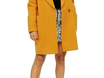 Buy Now: [Lot of 5] NWT's Topshop Carly Coat in Mustard