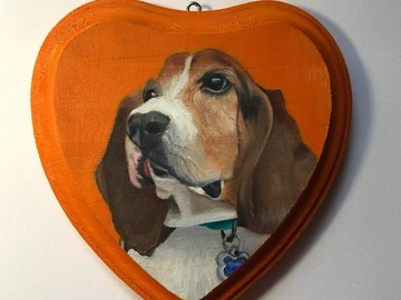 Selling: Custom Dog Portrait - Personalized Dog Oil Painting