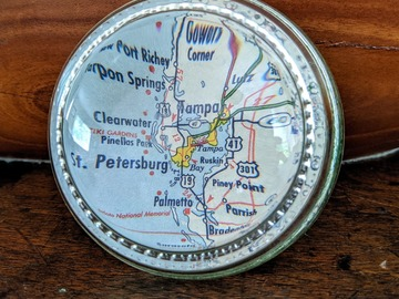 Selling with online payment: Vintage St. Pete/Tampa Bay Glass Paperweight