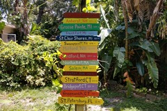 Selling with online payment: Custom Destination Sign includes  8 planks