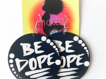 Selling with online payment: Be Dope Earrings