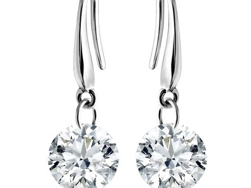 Buy Now: 12 Pair Naked Drill Crystal Earrings made w/ Swarovski elements