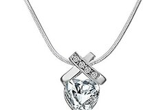 Buy Now: 12 Pieces  Infinity Heart Necklaces made with Swarovski Crystals