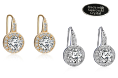 Compra Ahora: 12 Pair Crystal Halo Earrings made with Swarovski elements