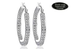 Buy Now: 12 Pair Inside Outside Hoop  Earrings made w/ Swarovski elements