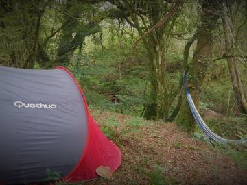 NOS JARDINS A LOUER: Tente et hamac en forêt