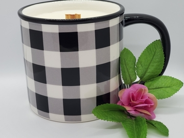 Selling with online payment: Buffalo Check Coffee Mug Candle