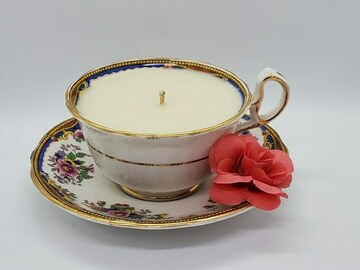 Selling with online payment: English Garden Coffee Cup Candle