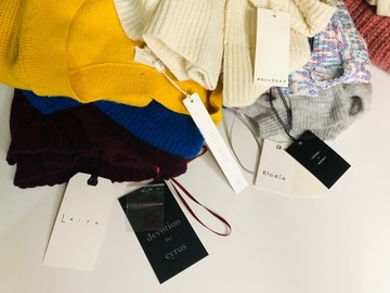 Buy Now: [Lot of 12] Fall/Winter N*RDSTR*M Rack Women Sweaters, Cardis