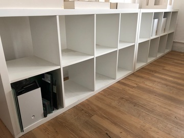 Selling without online payment: Ikea shelf (kallax) white, great condition hkd200