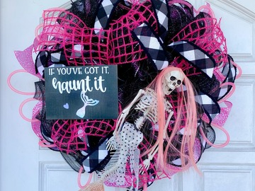 Selling with online payment: Halloween Wreaths - Mermaid Skeleton