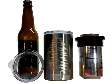 Selling with online payment: Hand Engraved Beer Kooz, Coffee Mug Combo