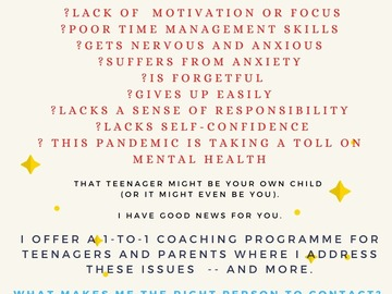 Coaching Services (India Only): Teenage Coaching