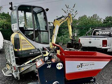 Weekly Equipment Rental: 1.5tn mini excavator
