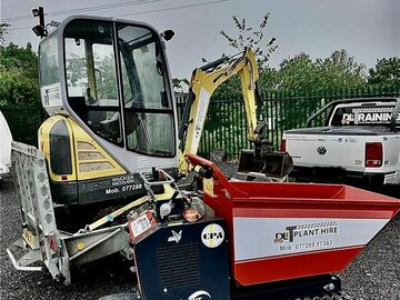Weekly Equipment Rental: 1tn tracked hi-tip dumper