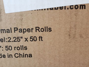 Selling with online payment: Thermal Rolls/credit card machine rolls