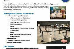Professional Services: Health Screeing Logistical Support Services