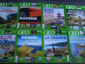 Vente: Lot de 8 magazines GEO n°1