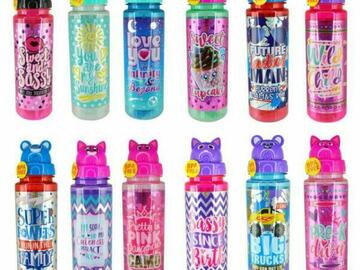 Buy Now: 72 pcs BPA Free Kids Water Bottles with Artwork Designs