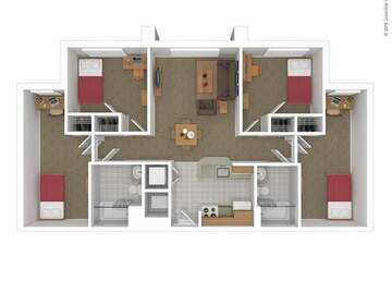 List Your Space: *FIRST MONTH PAID* South Campus Commons 7 | 4 bedroom 2 bathroom