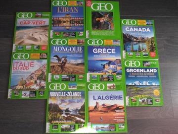 Vente: Lot de 10 magazines GEO 2020