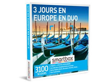 """Vente: Coffret Smartbox """"3 jours en Europe en duo"""" (199,90€)"""