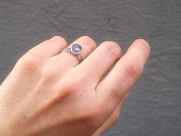 Selling with online payment: Rose-Cut Tanzanite Ring