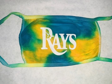 Selling with online payment: Rays/ Gators Tie Dye Face Mask