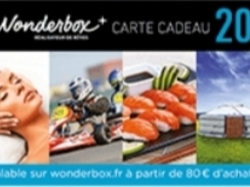 Vente: Code réduction Wonderbox (20€)