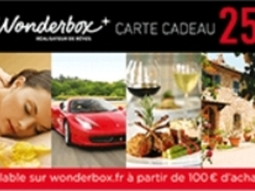 Vente: Code réduction Wonderbox (25€)