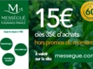 Vente: Code réduction Mességué (15€)